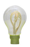 Green bulb. Green energy Stock Photography