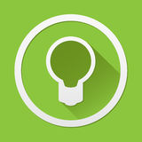 Green Bulb icon great for any use. Vector EPS10. Royalty Free Stock Photos