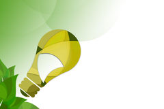 Green bulb left corner, abstrack background Stock Images