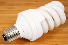 Green bulb for more light Royalty Free Stock Photo