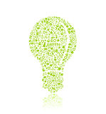 Green Bulb Silhouette Royalty Free Stock Image