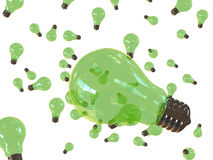 Green bulbs on air Royalty Free Stock Photography