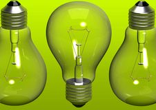 Green bulbs background Royalty Free Stock Photography