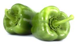 Green Bulgarian pepper  on white background Stock Photos