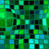 Green bulgy tiles Royalty Free Stock Photo