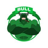 Green Bull Up Arrow. Exchange Trader illustration. Business conc Royalty Free Stock Images