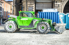 Green bulldozer Royalty Free Stock Images
