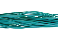 Green bunch of cables Stock Image