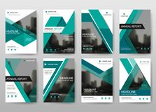 Green bundle annual report brochure flyer design template vector, Leaflet cover presentation abstract flat background, vector illustration