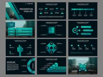 Green Bundle infographic elements presentation template. business annual report, brochure, leaflet, advertising flyer,. Corporate marketing banner Royalty Free Stock Image