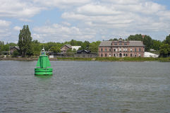 Green buoy Stock Photo
