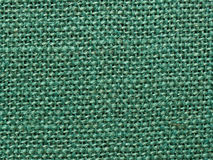 Green burlap fabric texture background Royalty Free Stock Photo