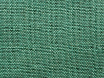 Green burlap fabric texture background Royalty Free Stock Photography