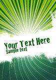 Green Burst Background. Vector grunge background with copy space for your text. Global Swatches Included Stock Images