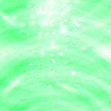 Green Burst Blurred Background. Sparkling Texture. Star Flash. Glitter Particles Pattern. Starry Explosion Stock Photography