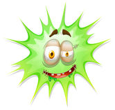 Green burst with face Royalty Free Stock Photography