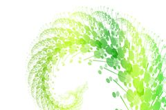 Green Burst of Nature. Abstract on White Background Stock Image