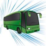 Green bus. Royalty Free Stock Photos