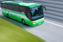 Green bus royalty free stock photography