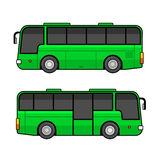 Green Bus Template Set on White Background. Vector Royalty Free Stock Photography