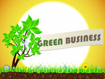 Green business royalty free illustration