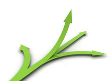 Green business arrows  Royalty Free Stock Images