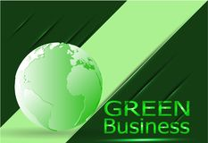 Green Business Background Environment Vector.+Green Leather Cover. Royalty Free Stock Photography
