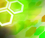 Green Business Background Hexagon Stock Photography