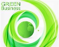 Green Business Background Vector Stock Image