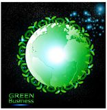 Green Business Background Vector.+Ecology green world. royalty free stock images
