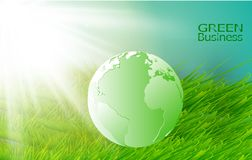 Green Business Background Vector. Green Fields Royalty Free Stock Photos