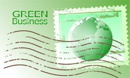 Green Business Background Vector_Postage Stamp. Green Business Background Vector postage stamp envelope background.creative new design wallpaper printing modern Stock Photography