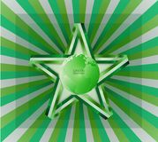 Green Business Background Vector Ribbon Green Star. Green Business Background Vector.  green business background . it can be applied for kinds of media Stock Image