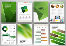 Green business backgrounds and abstract concept infographics Royalty Free Stock Photo