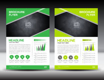 Green business brochure flyer design layout template in A4 size. Poster leaflet design Stock Image