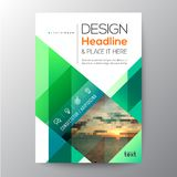 Green Business brochure template design. Layout Royalty Free Stock Images