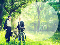 Green Business Businessmen Talking Environment Concept.  stock images