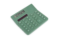Green business calculator Royalty Free Stock Image