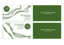 Green business card Stock Image