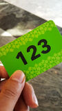 Green business card Royalty Free Stock Photography
