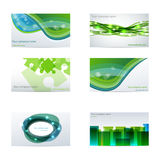 Green business cards Stock Photography