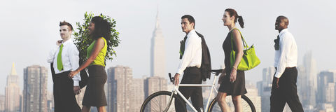 Green Business Commuters Conservation Corporate Concept Royalty Free Stock Photos