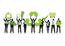 Green Business Concept of recycling royalty free illustration
