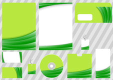 Green business corporate template Stock Photos