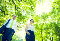 Green Business Couple Royalty Free Stock Images