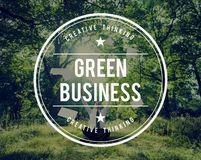 Green Business Earth Ecology Environment Concept royalty free stock photography