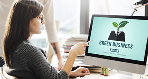 Green Business Ecology Environment Concept. Business people Ecology Environment Concept stock photography