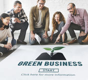 Green Business Ecology Environment Concept. People Choosing Green Business Ecology Environment stock image