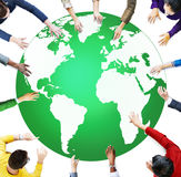 Green Business Environment Global Conservation Concept Royalty Free Stock Images