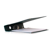 Green business file folder Royalty Free Stock Images